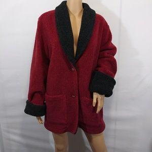 Real Comfort Fuzzy Blazer Jacket Size Medium